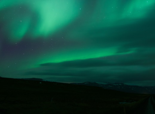 The magic green glows