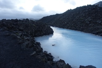 Walking around the Blue Lagoon
