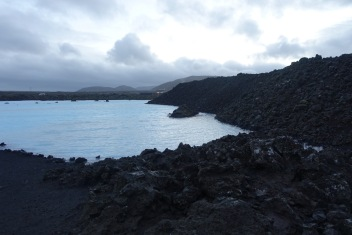 Early morning at the Blue Lagoon