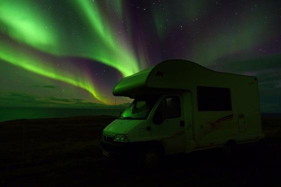 Campervan in the best light