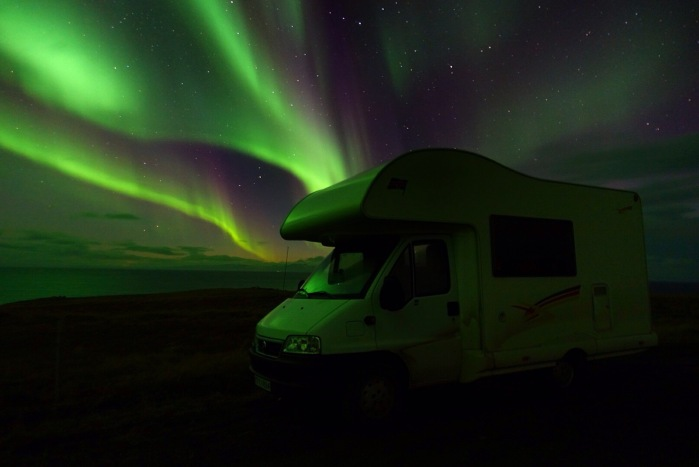 Campervan in the best light