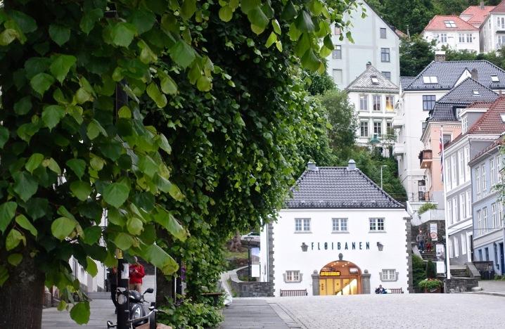Bergen's funicular station