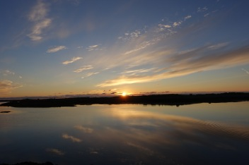 Midnight sun setting