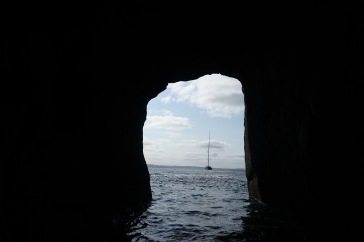 Through Fingals cave