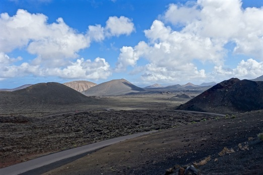 Driving in a volcanic wonderland