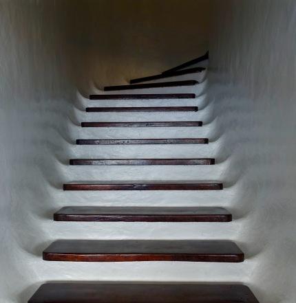 Arty stairs at Mirador Del Rio