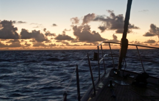 Picturesque evenings at sea