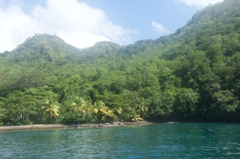 Pretty bay in St Vincent