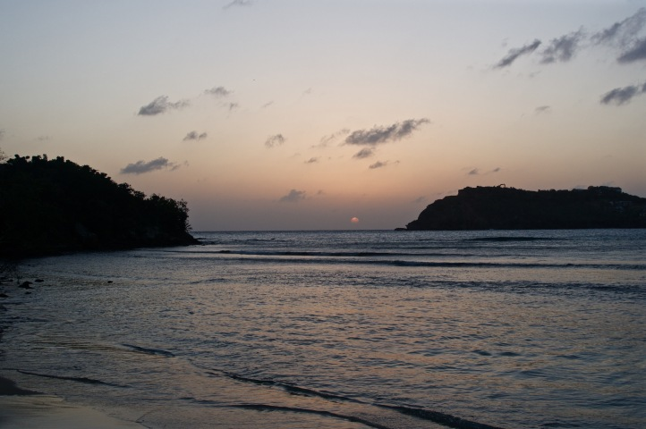 Pigeon beach sunset
