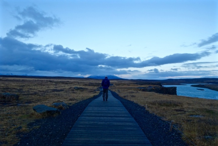 Lonely man roams