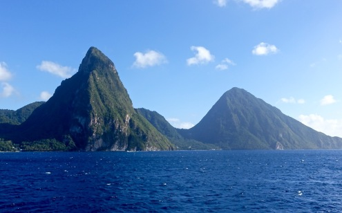 Pitons from the sea