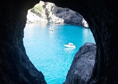 Through the cave