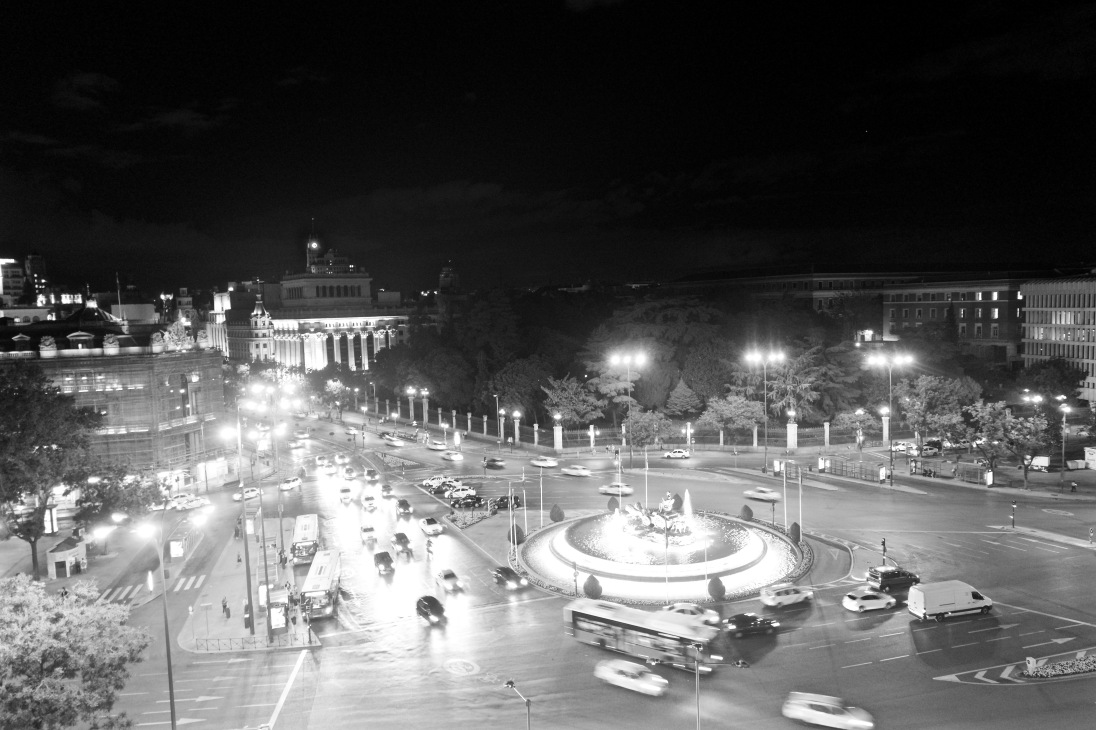 Bright lights of Madrid