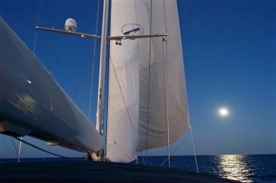 Moonlight sailing