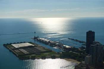 Navy pier from above