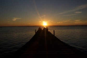 Sitting on the dock of the bay..