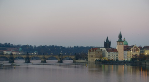 Pretty Prague at dusk