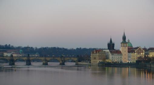Pretty Prague at dusk