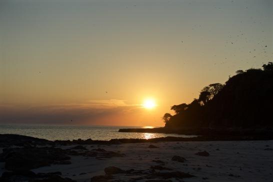 1st Pacific Ocean sunset in Las Perlas